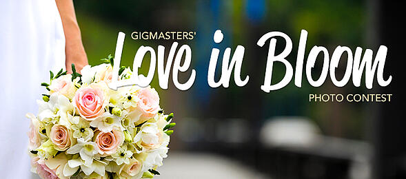 bouquet with text Love in Bloom