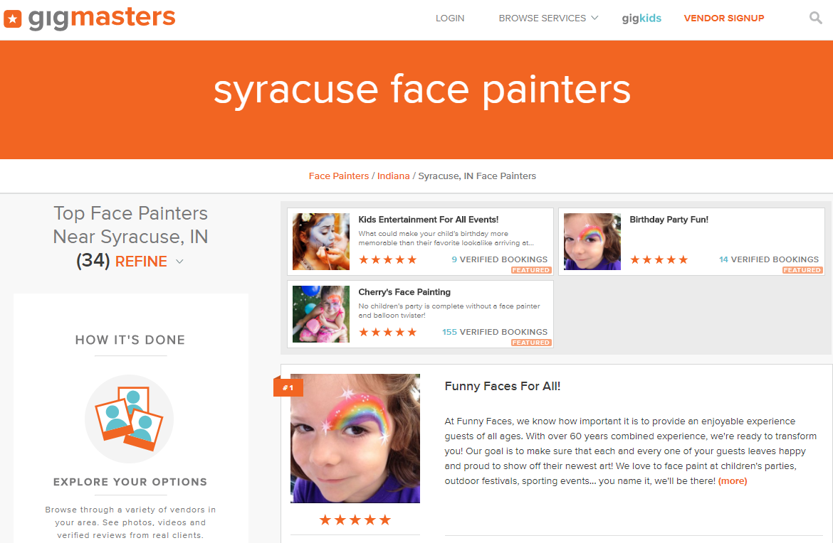 Syracuse Face Painters